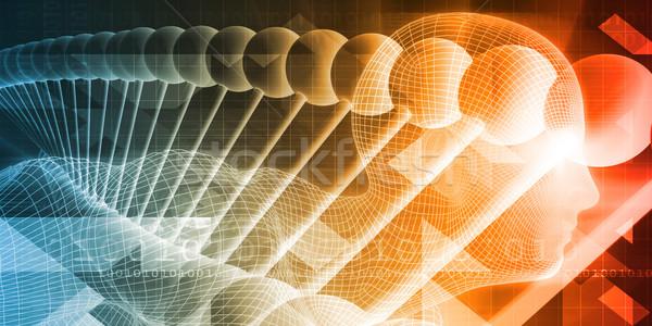 научное исследование анатомии технологий искусства аннотация фон Сток-фото © kentoh