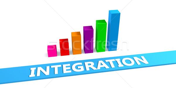 Groot integratie goede grafiek tonen vooruitgang Stockfoto © kentoh