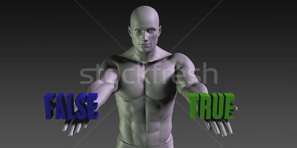 True or False Stock photo © kentoh