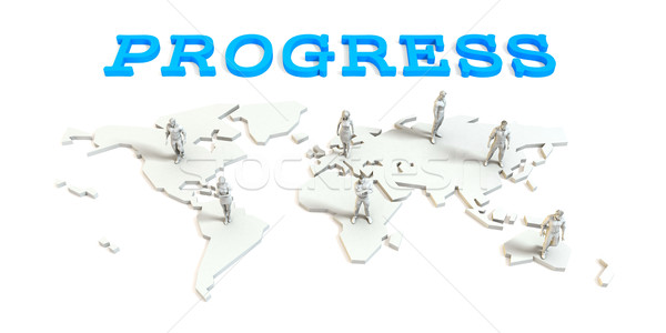 Progress Global Business Stock photo © kentoh