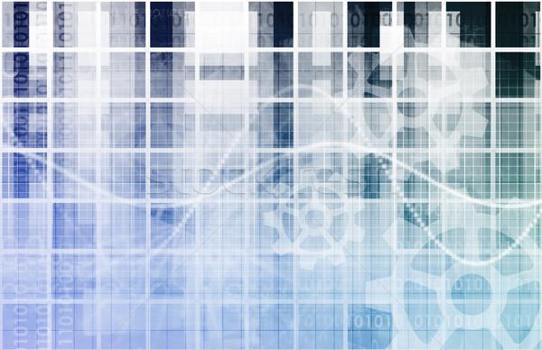 Elektronicznej handlu przemysłu usługi działalności technologii Zdjęcia stock © kentoh