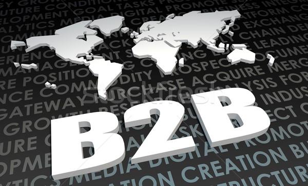 B2b промышленности глобальный стандартный 3D карта Сток-фото © kentoh