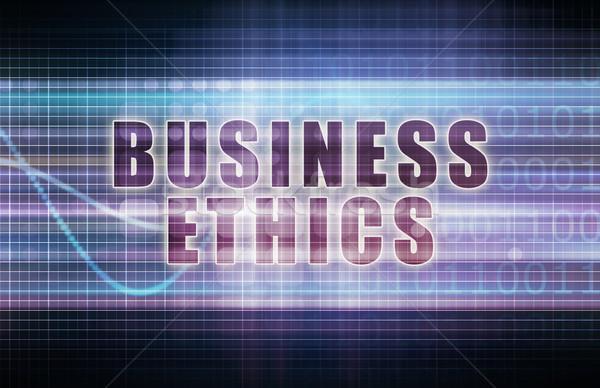 Business Ethik Tech Tabelle Kunst Technologie Stock foto © kentoh
