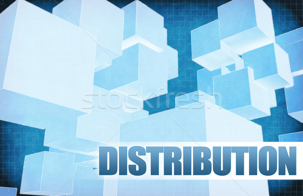 Distribution on Futuristic Abstract Stock photo © kentoh