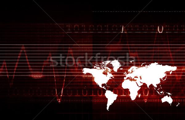 Technológia tiszta egyszerű vonalak terv háttér Stock fotó © kentoh