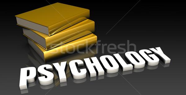 Psychologie éducation livres livre noir Photo stock © kentoh