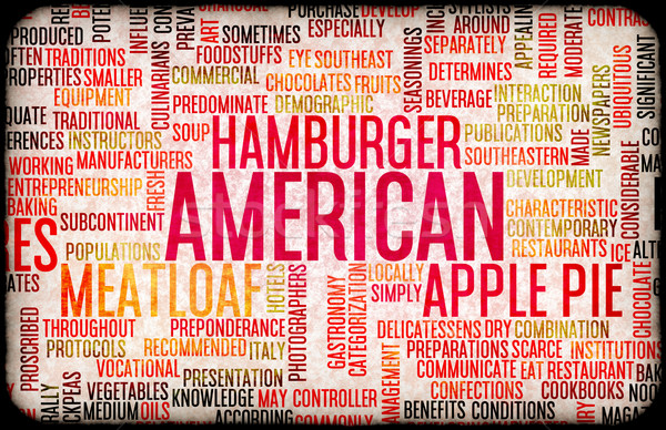 American Food Menu Stock photo © kentoh