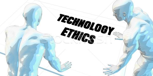 Tecnología ética debate reunión de negocios arte reunión Foto stock © kentoh