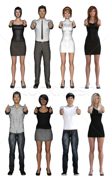 Business People Showing Thumbs Up Stock photo © kentoh