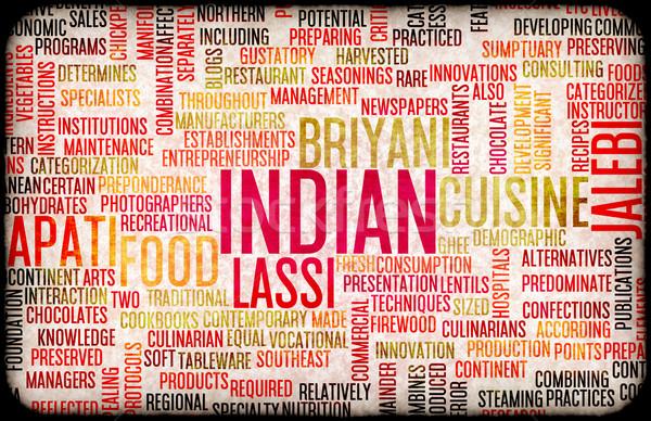 Comida indiana menu cozinha local pratos restaurante Foto stock © kentoh