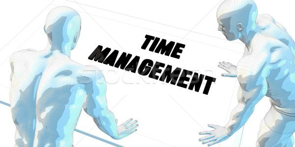 Időbeosztás megbeszélés üzleti megbeszélés művészet férfi férfiak Stock fotó © kentoh