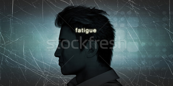 Man Experiencing Fatigue Stock photo © kentoh