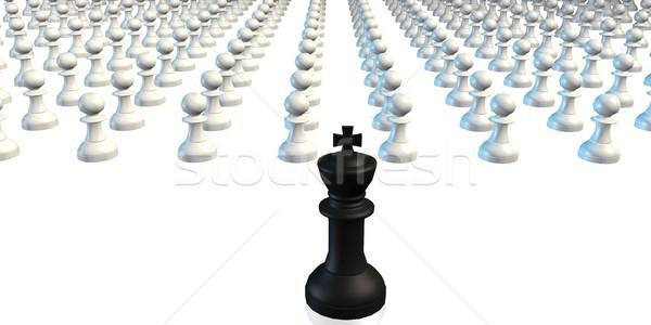 Leiderschap koning leidend schaken business ontwerp Stockfoto © kentoh
