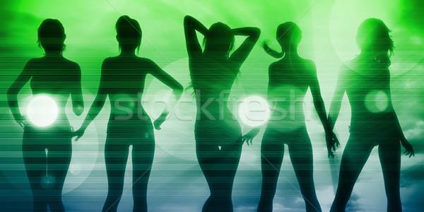 Stock photo: Disco Party Girls Celebrating