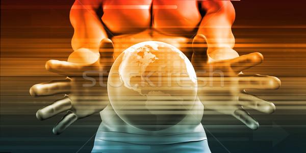 Multimedialnych technologii prezentacji streszczenie świat tle Zdjęcia stock © kentoh