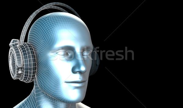 Disco techno partij elektronische muziek kunst Stockfoto © kentoh