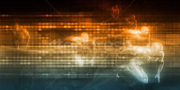 Nagysebességű internet kapcsolat háló adat konnektivitás Stock fotó © kentoh