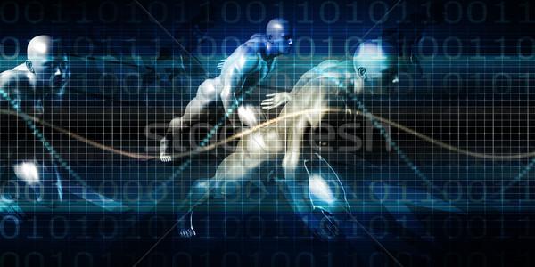 Vorbereitung herausfordern Business Rennen Mann Fitness Stock foto © kentoh