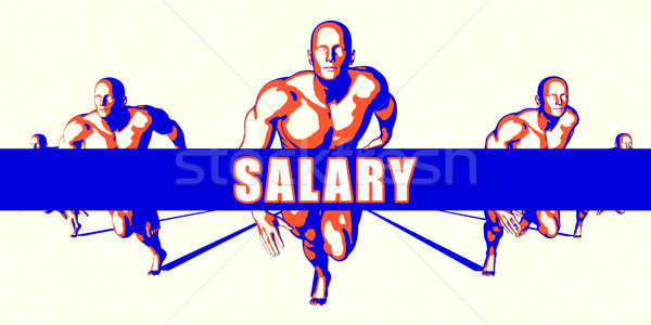 Stipendio concorrenza illustrazione arte sfondo arancione Foto d'archivio © kentoh