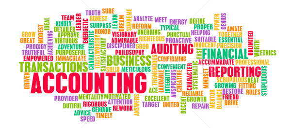 Accounting Word Cloud Concept Stock photo © kentoh
