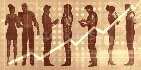 üzlet esemény megbeszélés cégvezetők megbeszél absztrakt Stock fotó © kentoh