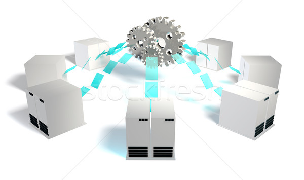 Stockfoto: Integratie · bestanddeel · technologie · netwerk · software · digitale