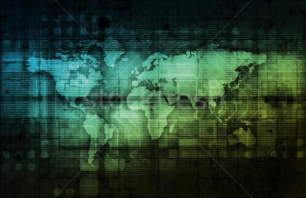 Integrado soluções teia internet mundo Foto stock © kentoh