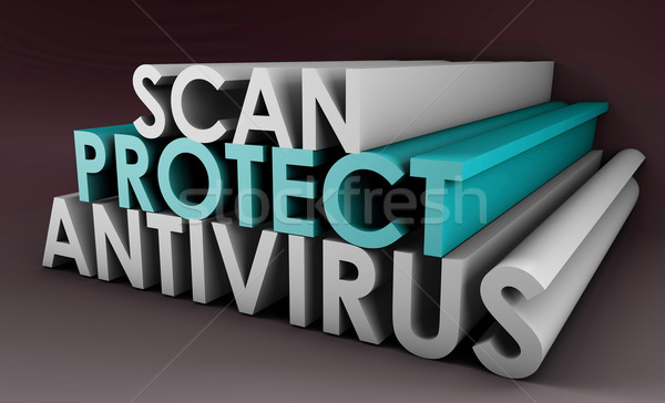 Antivirus scansione pc computer internet Foto d'archivio © kentoh