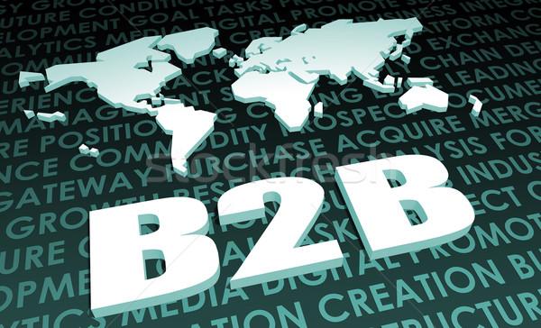 B2b industrie globale standaard 3D kaart Stockfoto © kentoh