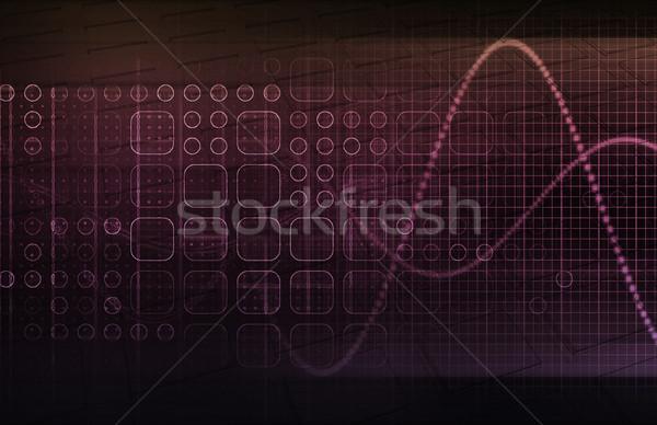 интегрированный глобальный уровень фон сеть Сток-фото © kentoh