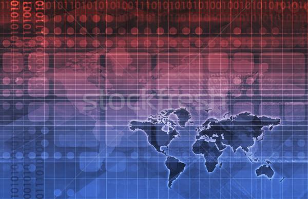 связь сеть Мир искусства технологий Сток-фото © kentoh