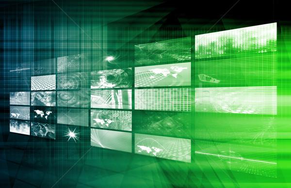 Dijital çözümler kurumsal iş sanat Internet Stok fotoğraf © kentoh