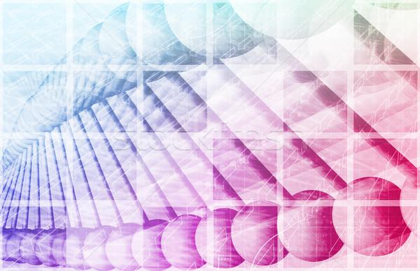 Medizinischen Technologie Corporate Forschung Internet abstrakten Stock foto © kentoh
