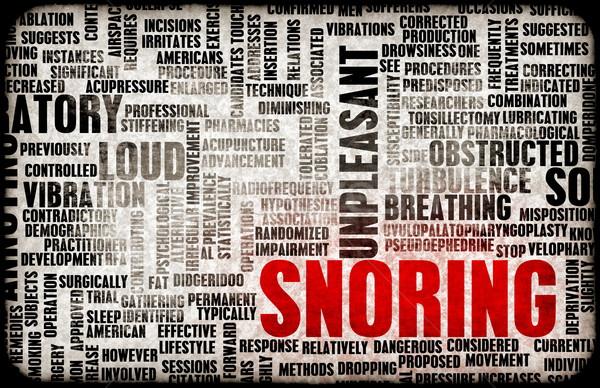 Horkolás bosszantó alszik egészség alszik veszély Stock fotó © kentoh