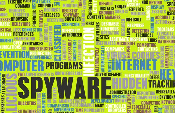 Spyware technológia online program számítógép internet Stock fotó © kentoh