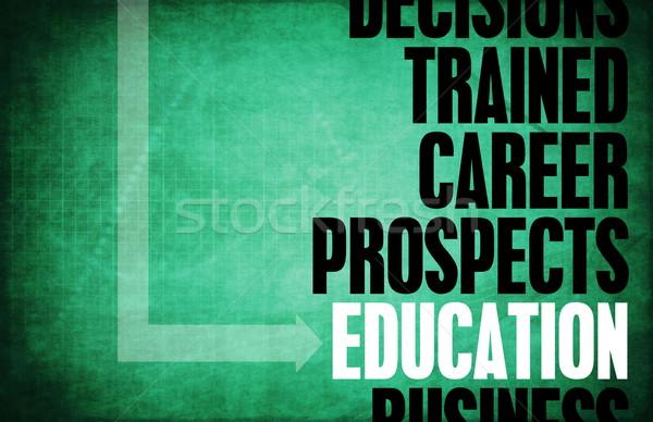 образование ядро Принципы бизнеса ретро цифровой Сток-фото © kentoh
