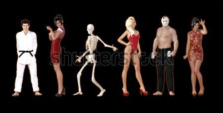 Halloween festival sonbahar adam seksi arka plan Stok fotoğraf © kentoh