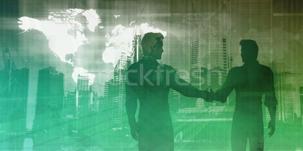 Fabrico indústria negócio abstrato arte tecnologia Foto stock © kentoh