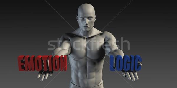 érzelem logika választás különböző hit kék Stock fotó © kentoh