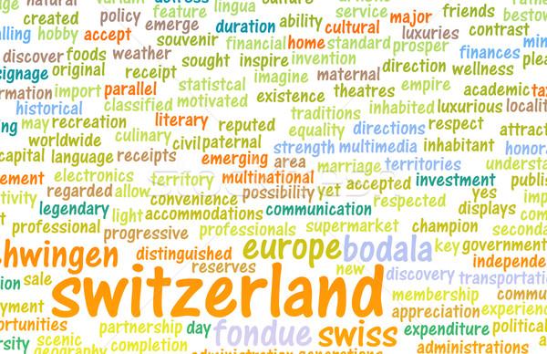 İsviçre ülke soyut sanat iş çikolata Stok fotoğraf © kentoh