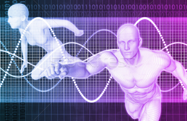 Fitness formation programme résumé design santé Photo stock © kentoh