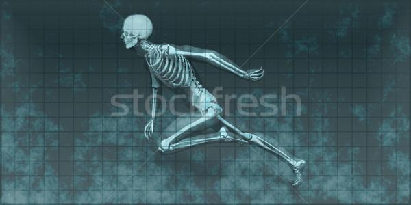 Radiografía escanear huesos cuerpo salud hospital Foto stock © kentoh