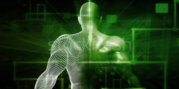 医療 ネットワーク デジタル技術 抽象的な 医療 健康 ストックフォト © kentoh