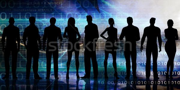 Motivado personas éxito mujeres multitud formación Foto stock © kentoh