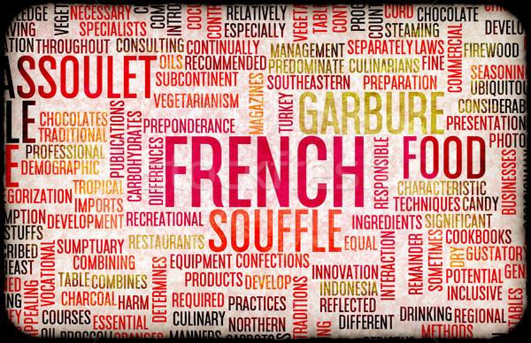 French Food Menu Stock photo © kentoh