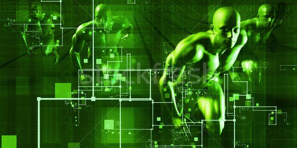 電気通信 ネットワーク 世界 芸術 ビジネス ストックフォト © kentoh