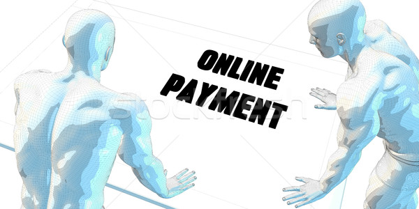 Online Bezahlung Diskussion Geschäftstreffen Kunst Sitzung Stock foto © kentoh