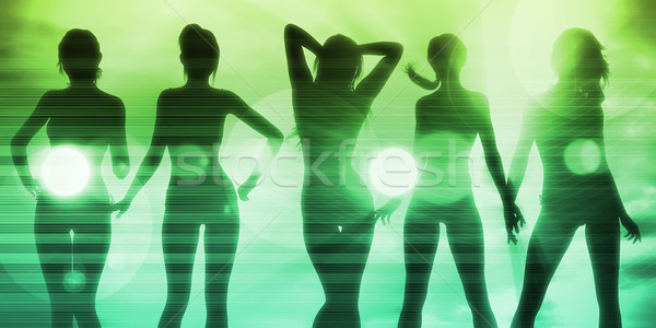 Dames clubbing discotheek feesten achtergrond leuk Stockfoto © kentoh