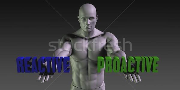 Proativa escolha diferente crença homem assinar Foto stock © kentoh