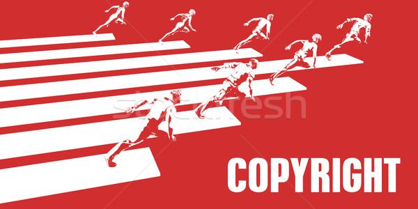 Szerzői jog üzletemberek fut út üzlet nők Stock fotó © kentoh